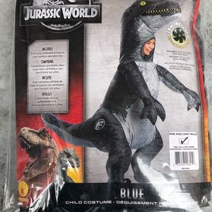 Blue Jurassic World Kids Costume! New!